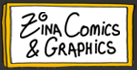 zina comics and graphics logo